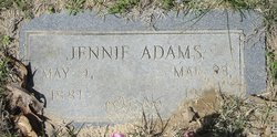 Jennie <I>Thornton</I> Adams