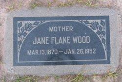 Jane <I>Flake</I> Wood