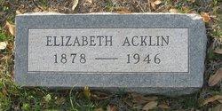 Emma Elizabeth <I>Lockwood</I> Acklin