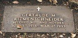 Gertrude Mae <I>Henning</I> Riemenschneider