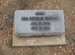 Ora E <I>Needham</I> Bertling