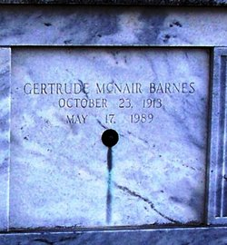 Gertrude <I>McNair</I> Barnes