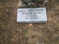 "Sarah Jane ""Scrapie"" <I>Purser</I> Byrd"