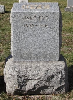 Jane <I>Hunt</I> Dye