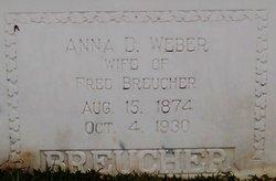 Anna D. <I>Weber</I> Breucher