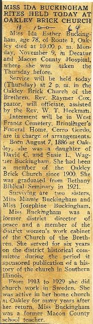 Ida Esther Buckingham