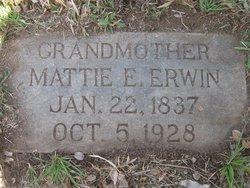 """Martha Elizabeth """"Mattie"""" <I>Smith</I> Erwin"""