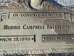 Minnie <I>Campbell</I> Breedlove