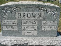 Mary Ann <I>Handcock</I> Brown