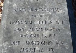 Nancy Burgoyne <I>Stack</I> Thigpen