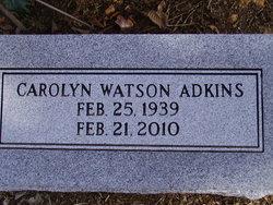Carolyn <I>Watson</I> Adkins