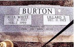 Alta Elizabeth <I>White</I> Burton