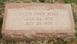 Myrta Alice <I>Owen</I> Bybee