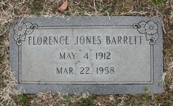 Florence <I>Jones</I> Barrett