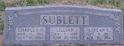 Nannie Lillian <I>Winkler</I> Sublett