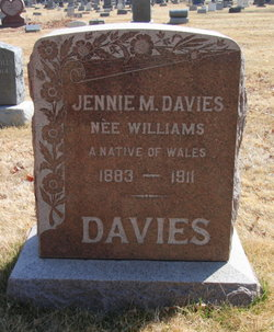 "Jennie M. ""Jane"" <I>Williams</I> Davies"