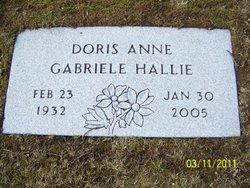 Doris Anne <I>Gabriele</I> Hallie