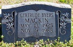 Gertrude <I>Byers</I> Mackin