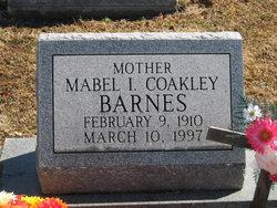 Mabel <I>Coakley</I> Barnes