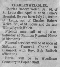 "Charles Robert ""Chuck Charleston"" Welch, Jr"