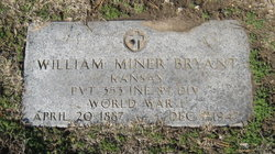 "Pvt William Miner ""Bill"" Bryant"