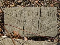 Sarah Lydia <I>Runyan</I> Henry