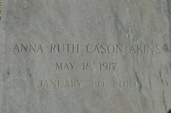 Mrs Anna Ruth <I>Cason</I> Akins