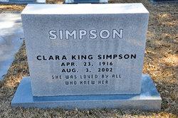 Clara <I>King</I> Simpson