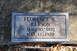 Florence Ann <I>King</I> Babson