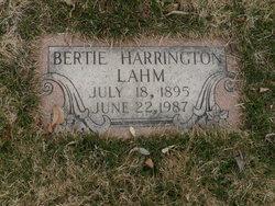 Bertie Lee <I>Harris</I> Lahm