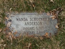 Wanda <I>Schoenfeld</I> Anderson