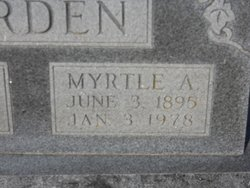 Myrtle A. <I>Scott</I> Barden