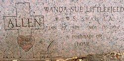 Wanda Sue <I>Littlefield</I> Allen