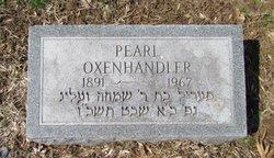 Pearl <I>Feinstein</I> Oxenhandler