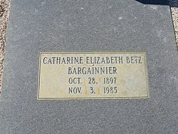 Catharine Elizabeth <I>Betz</I> Bargainnier
