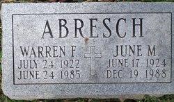 June M. <I>Wallace</I> Abresch