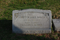 Loretta <I>Hale</I> Baker
