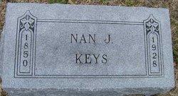 "Nancy Jane ""Nan"" <I>Mayes</I> Keys"