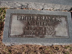 Edith Frances <I>Phillips</I> Marlow