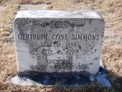 Gertrude <I>Cone</I> Simmons
