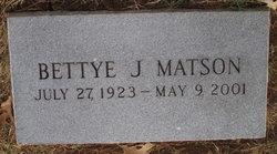Bettye J Matson