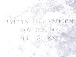 Evelyn <I>Orr</I> Vaughn