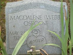 Magdelene <I>Webb</I> Osborne