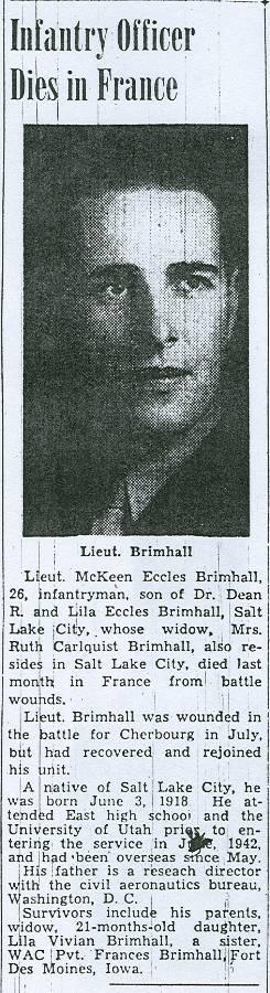 1LT McKeen Eccles Brimhall