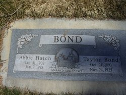Abbie <I>Hatch</I> Bond