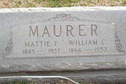 Mattie F <I>Dixon</I> Maurer