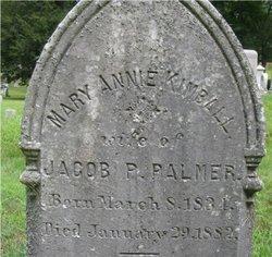 "Mary Ann ""Annie"" <I>Kimball</I> Palmer"