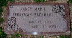 Nancy Marie <I>Perryman</I> Backhaus