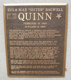 """Eula Mae """"Sister"""" <I>Bagwell</I> Quinn"""