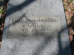 Lillie Mae <I>Duncan</I> Cates